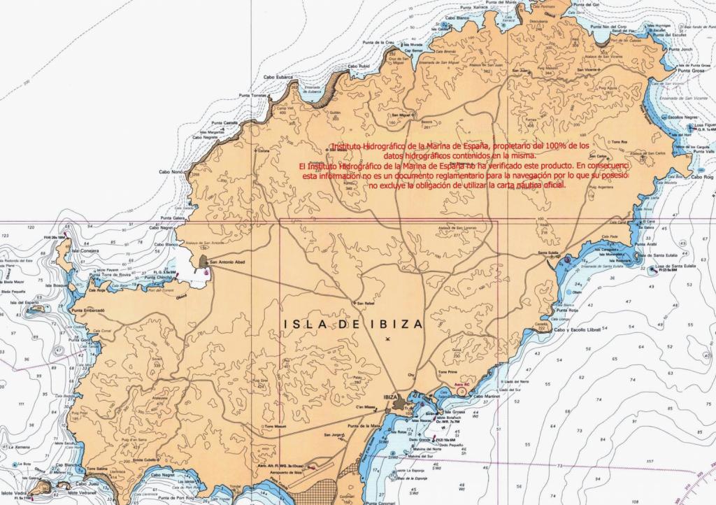 carta nautica de ibiza y formentera